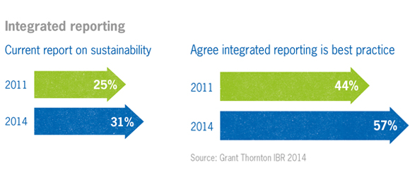 CSR and integrated reporting chart