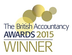 The British Accountancy Awards 2015 winner logo